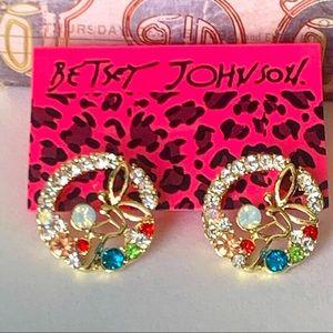 Betsey Johnson Style - Crystal Fairy Stud Earrings